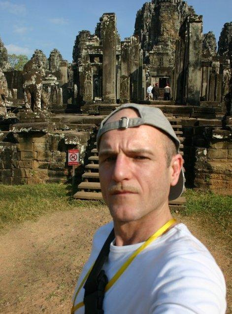 Robert Niedermeier auf Recherche-Reise, Angkor Wat (Kambodscha)