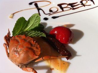 Amuse Gueule im Restaurant Almare in Palma auf Mallorca, Balearen, Spanien