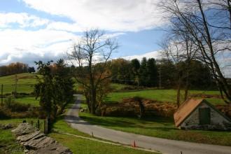 Brandywine River Valley, Blick vom Kuerners Haus in die Landschaft
