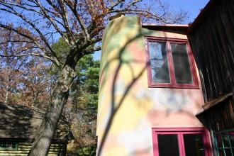Eshrikshaus, hier lebte der Holzkünstler Warren Eshrik
