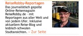 Screenshoot der azvon reiserobby.de auf queer.de
