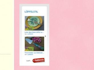 Weihnachtsgeschenk mit Dawanda-Wigdet von Löffelstil, Screenshot: Robert Niedermeier
