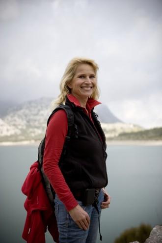 Wandern mit Prinzessin Astrid im Tramuntana-Gebirge mit Blick auf Cuber-Stausee und den Puig Major, Mallorcas höchster Berg, mit seinen 1450 Metern
