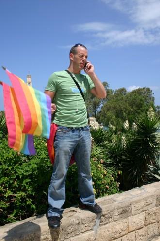 LGBT-Aktivist in Jaffa bei Tel Aviv in Israel, Foto: Robert Niedermeier
