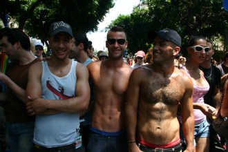 Visitor/ Besucher of/ von Pride Parade Tel Aviv, Israel, Biggest/ Größter Christopher Street Day