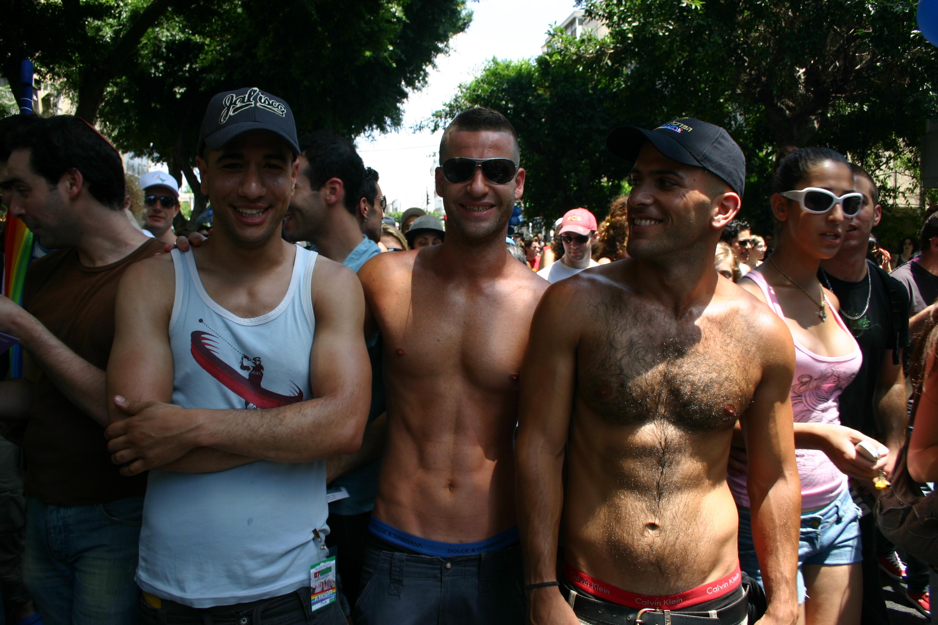 Visitor/ Besucher of/ von Pride Parade Tel Aviv, Israel, Biggest/ Größter Christopher Street Day
