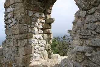 Kantara Burg am Rande der Karpaz-Halbinsel im Norden der Türkischen Republik Nord-Zypern