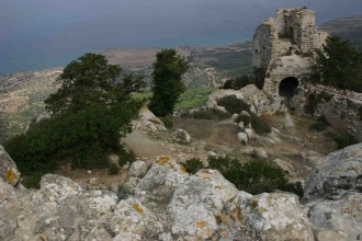 Kantara Burg am Rande der Halbinsel Karpaz im Norden der Türkischen Republik Nord-Zypern