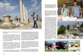 Christlicher Digest Nordzypern II Zweite Doppelseite der Reportage von Robert Niedermeier über Nordzypern aus der Zeitschrift Christlicher Digest, Dezember 2011