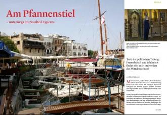Erste Doppelseite der Print-Reportage im Christlichen Digest über Nordzypen von Robert Niedermeier