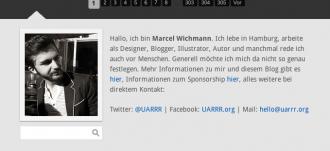 Screenshot von Startseite http://uarrr.org/ auf Foto zu sehen ist Marcel Wichmann, Admin der Seite uarrr.org