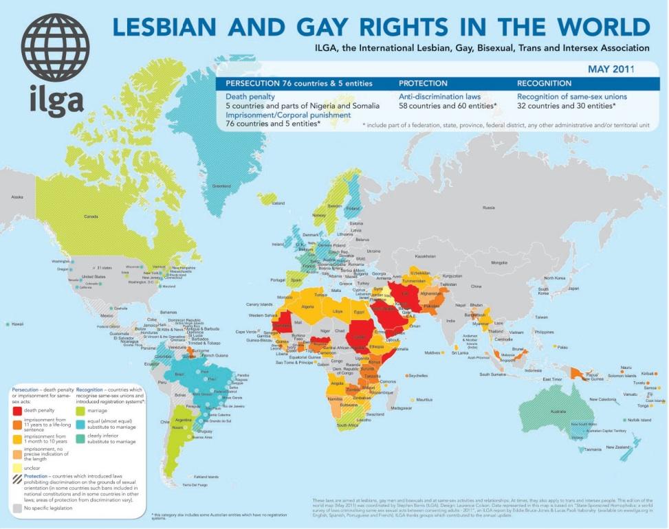 weltkarte LGBT Gesetze Eddy Hirschfeldstiftung