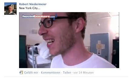 Facebook Screenshot, Profil Robert Niedermeier, YouTube-Video von Christoph Pfaff aka Von_Unterwegs