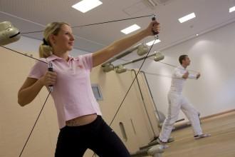 Moderne Fitness-Geräte: Brandenburg, Alt-Madlitz, Gut Klostermuehle, Medical Wellness Residenz
