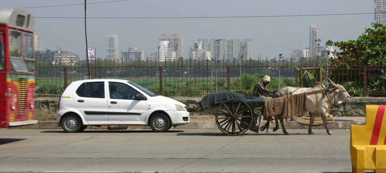 Traffic: Scene in Mumbai