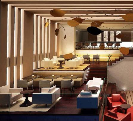 Ein Highlight des Hilton Bogota ist die elegante Atrium-Lobby, die dem Gast das umfangreiche Gastronomie-Angebot des Hotels offenbart: