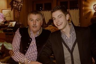 Zwei Teilnehmer der Kitzglam: Gäste im Restaurant Chizzo