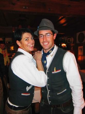 Christoph Tomschy und Kollegin in der Gourmet-Hütte Sonnenbühel