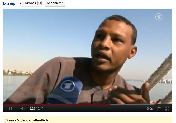Ägypter im ARD lebt als Segelbootfahrer vom Tourismus