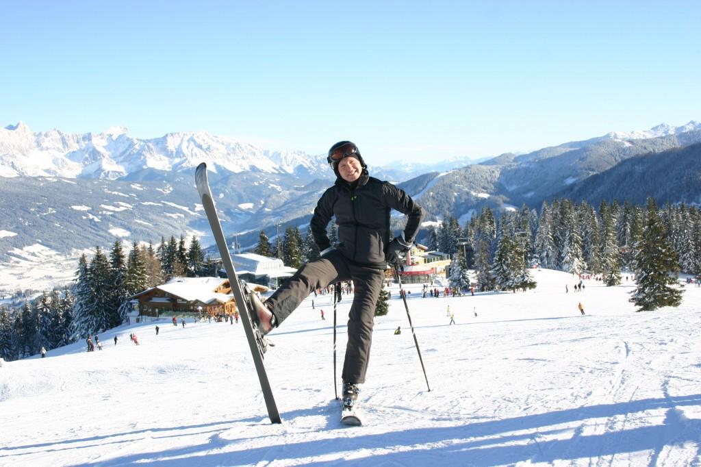 Roman Forisch führt durch das Skigebiet oberhalb von Flachau