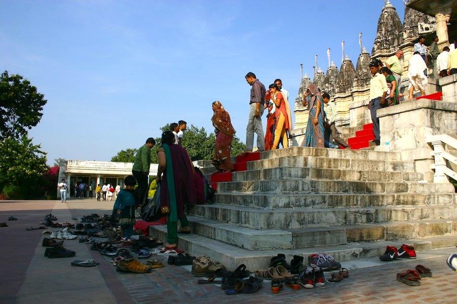 Eingang zum Jain-Tempel, Foto: Robert Niedermeier
