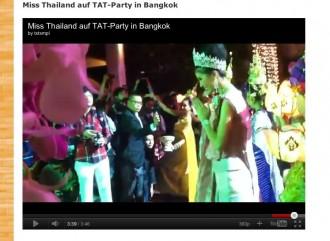 Screenshot aus meinem Blog zeigt Ausschnitt aus Smartphone-Video: TAT-Party in Bangkok