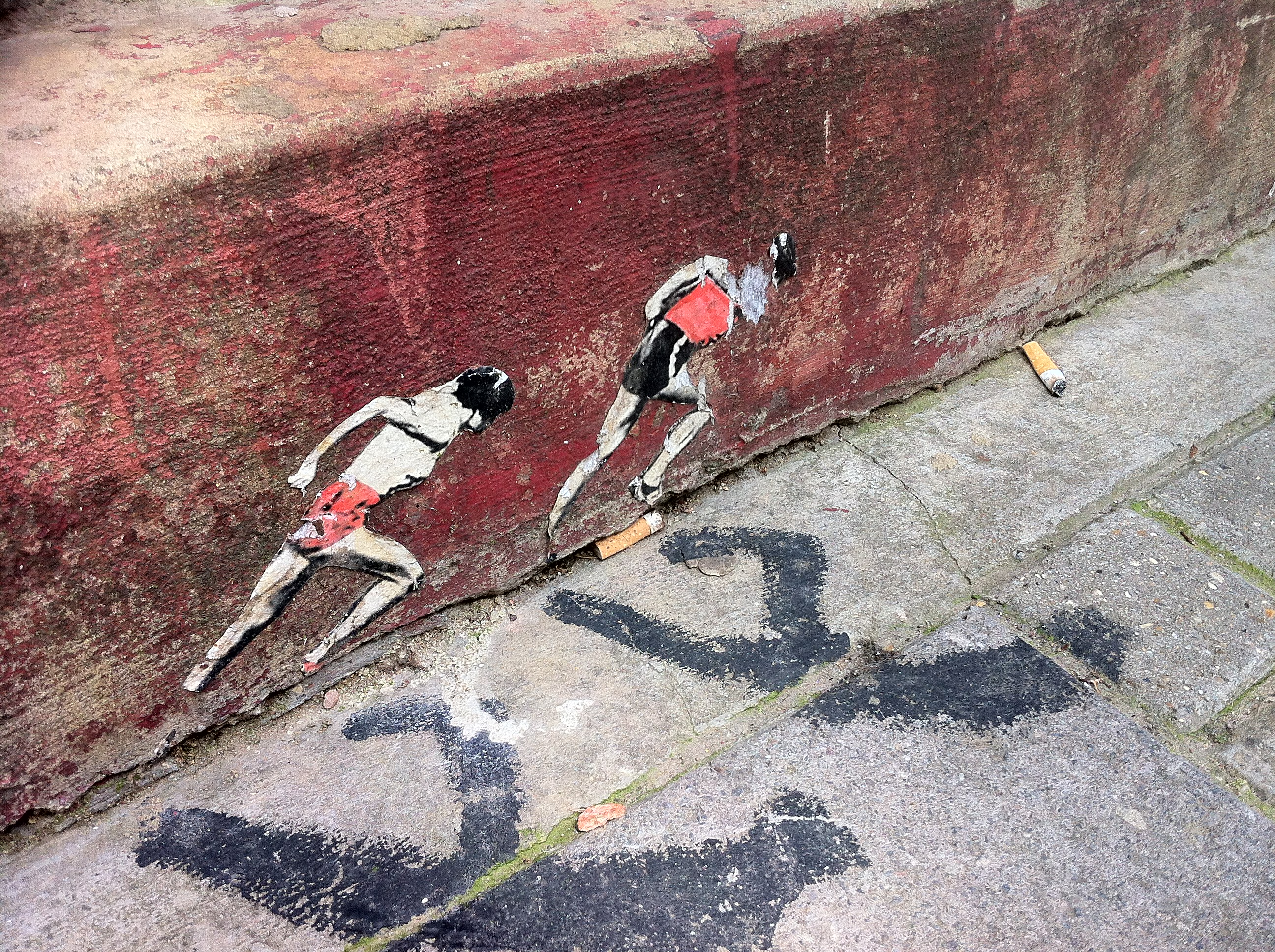 Streetart Art London Olympische Themen: Pablo Delgados Olympic Runners London 2012