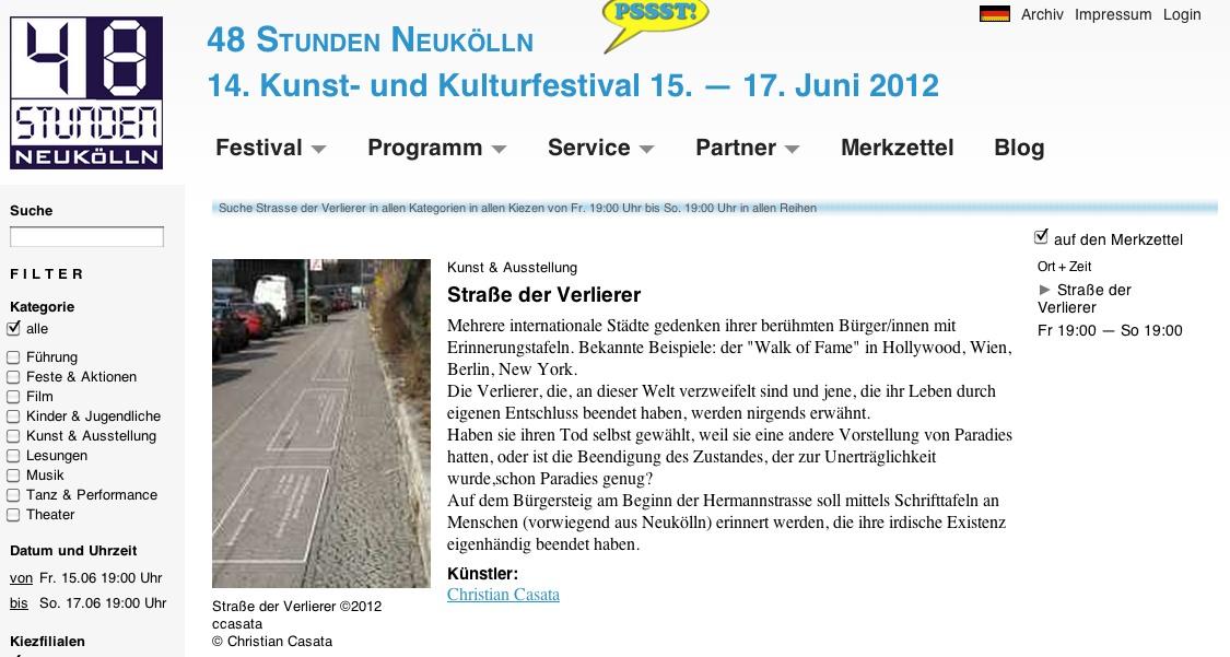Screenshoot Internetseite 48h Neukölln