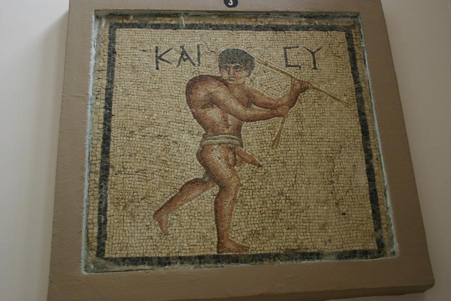 Mann mit Penis, Museum Antakya, Türkei