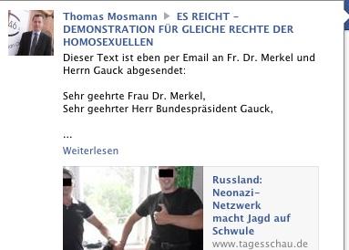 "Vorsitzende Thomas Mosmann ein bekennender ""NPD-Sympathisant"""