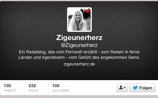 Zigeunerherz Twitter-Account