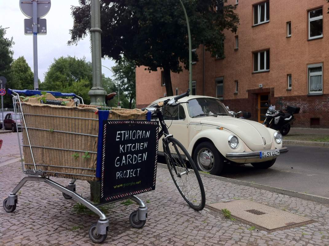 Äthiopischer Küchengarten mit Fahrrad am 14.07.2013