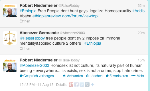 Ethiopia LGBTs under pressure: Fascism is crime, homosexuality is human right