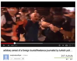 Verschleppt von der Polizei in der Türkei: Video-Screenshot