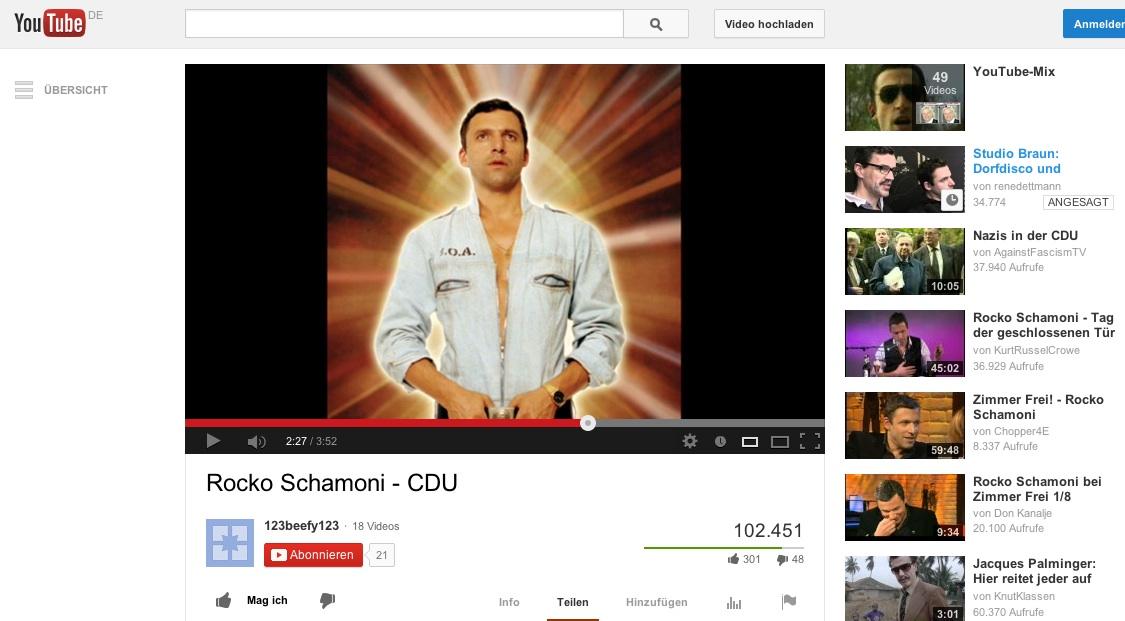 Rocky Schamonis CDU auf Yutube