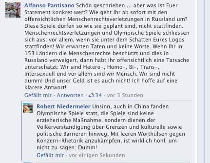 Post von einem Enough_is_Enough-Aktivisten auf Volkswagen