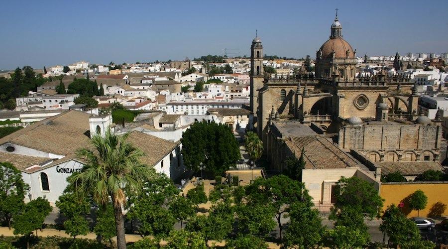 Jerez: Blick von der festung über die Stadt