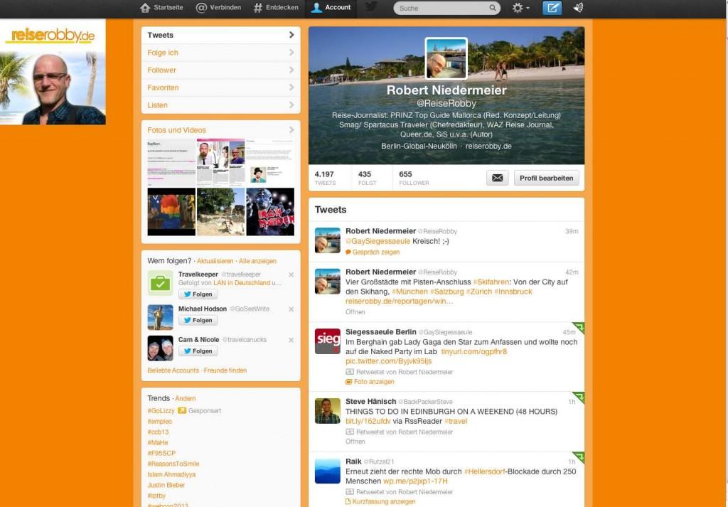 Twitter-Account von ReiseRobby