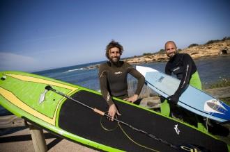 Surfer- und SUP-Experten: Joan Bonet und Mauro Lareu, Foto: Dennis Yenmez