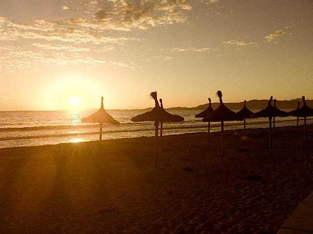 Mallorca-Abendsonne: Strand am Ballermann