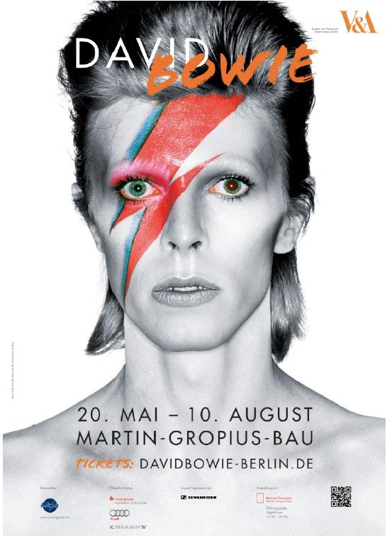 Ausstellungsplakat David Bowie Martin Gropius Bau, Berlin