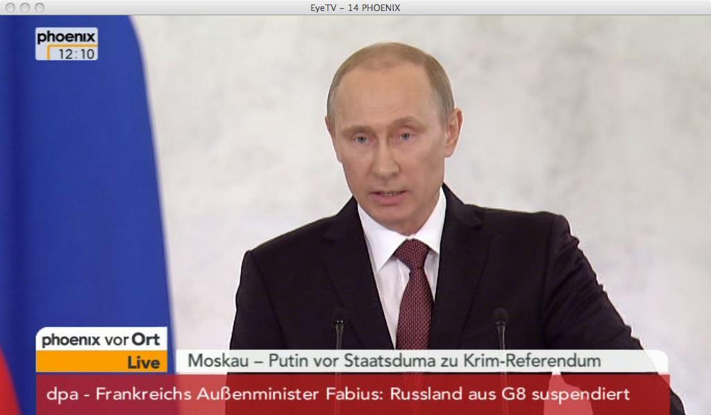 Präsident Putin redet vor Staatsduma, russische Föderation
