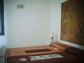 Ein Schlafzimmer im Gästhaus von Baldo Caime auf Sizilien