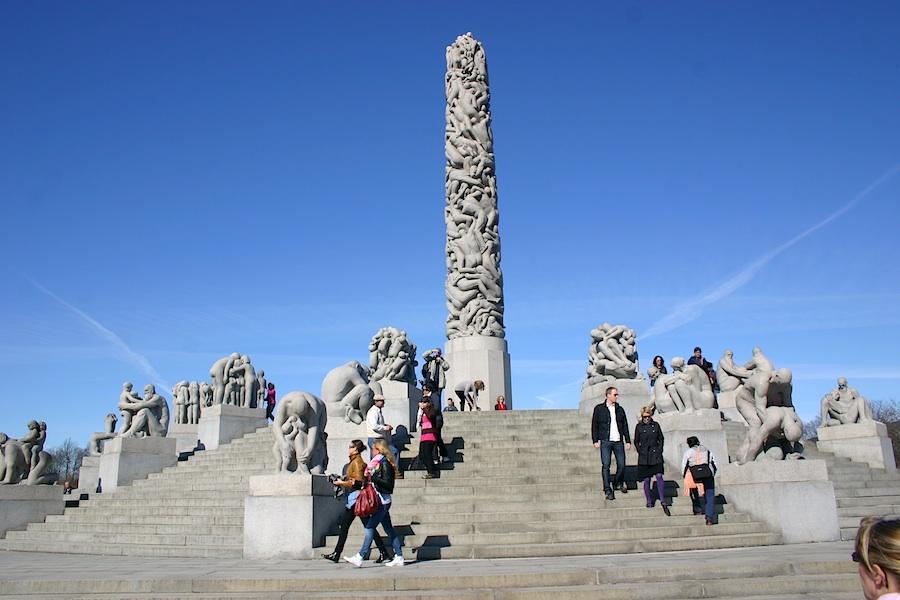Monolith in Oslo Vigeland-Skulpturen