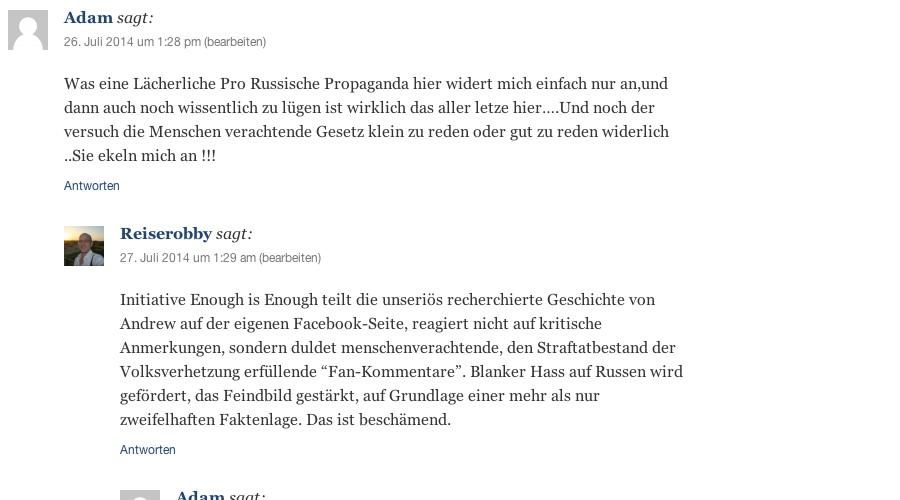 Schlauer Kommentar - Ironie off