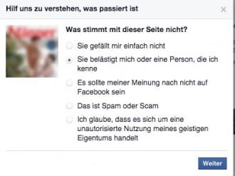 Von Männer belästigt.... Facebookmeldung