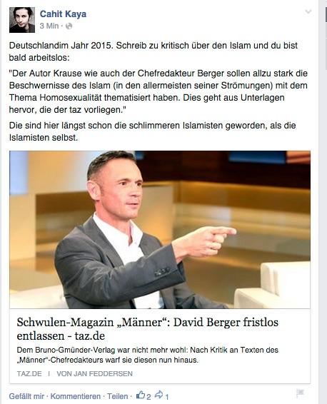 """Hetzer empört über Entlassung eines """"Demagogen""""."""