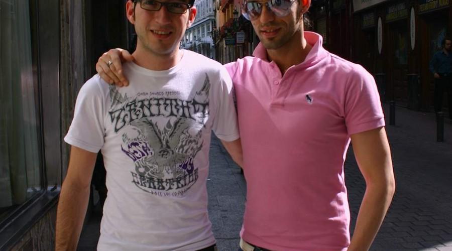 Schwules Pärchen im Madrid