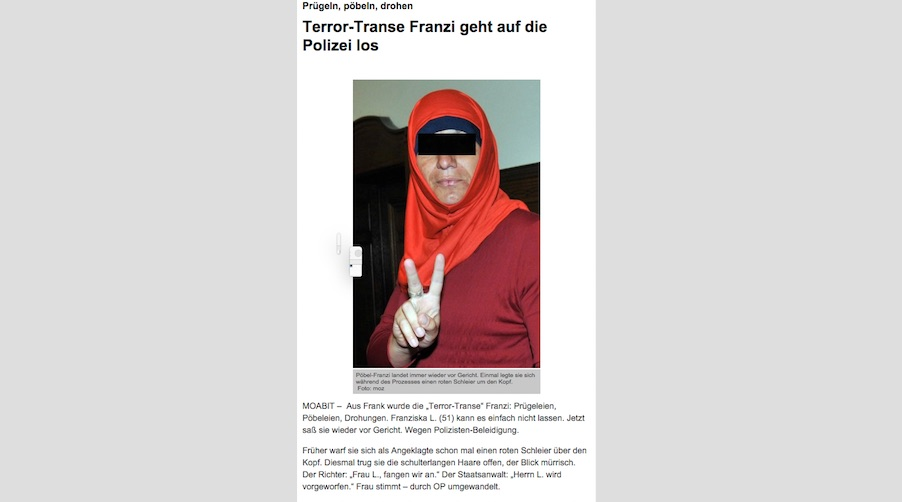 Screenshot Berliner Kurier