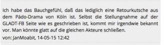 """Jan mobbt GLADT auf Siegessäule.de Die Verleumdungslawine stürzt unaufhaltsam ins unterirdische Niveau hinab.  Trolliger """"Leser""""-Kommentar auf Siegessäule.de zur GLADT-Stellungnahme"""